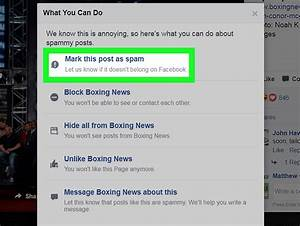 How To Report A Post On Facebook  With Pictures