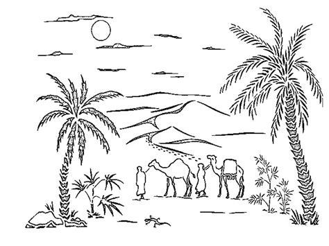 disegni da colorare paesaggio di mare paesaggi da colorare il deserto
