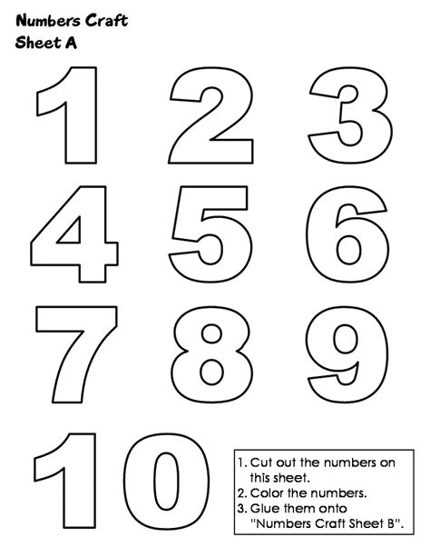 printing numbers 1 10 sheets loving printable