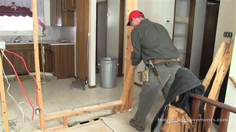 how to remove a load bearing interior wall how to remove a non load bearing wall