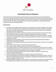 crt tanaka social media policy template for employees With employee social media policy template