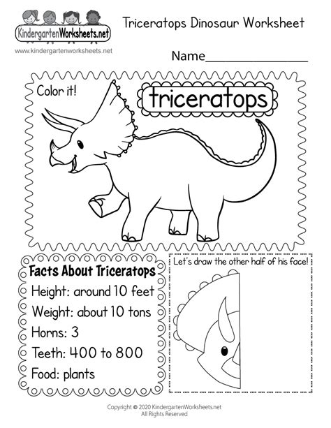 worksheet  kindergarten dinosaurs  worksheet blog