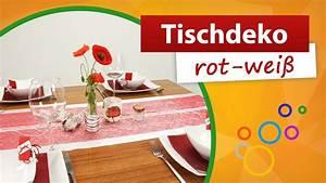 Tischdeko Rot Weiß : tischdeko rot wei tischdekoration trendmarkt24 youtube ~ Watch28wear.com Haus und Dekorationen