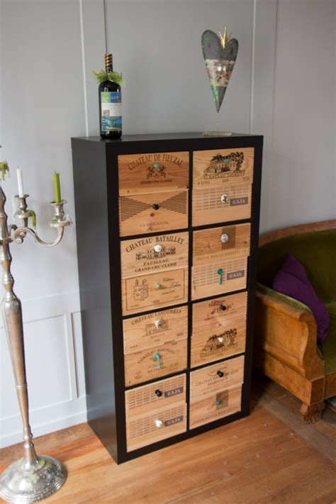wine bureau spotted in switzerland expedit with wine styled drawers