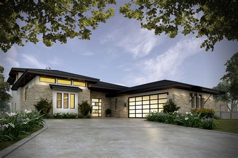 contemporary prairie style house plans small home one contemporary style house plan 4 beds 4 00 baths 3349 sq