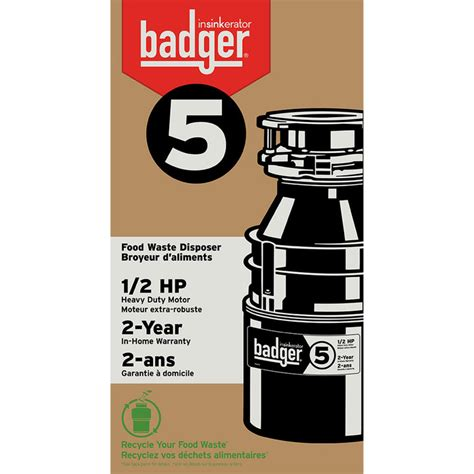 badger 1 2 hp garbage disposal insinkerator badger 5 1 2 hp garbage disposal 9073