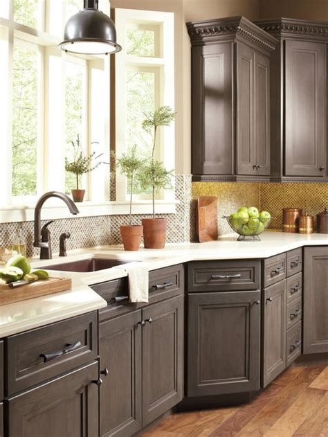 Gray Stained Cabinets by Gray Stained Cabinets Houzz