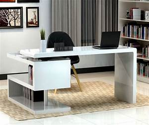 17, White, Desk, Designs, For, Your, Elegant, Home, Office