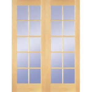 wood interior doors home depot builder 39 s choice 48 in x 80 in 10 lite clear wood pine prehung interior door hdcp151040