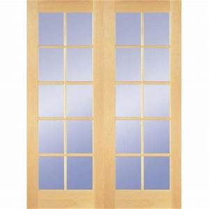 builder39s choice 48 in x 80 in 10 lite clear wood pine With home depot interior french door
