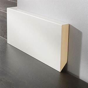 Sockelleisten Holz Weiß : logoclic sockelleiste wei 2 6 m x 17 mm x 100 mm gefast ~ Michelbontemps.com Haus und Dekorationen