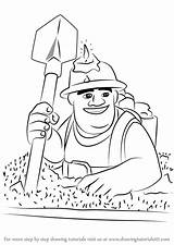 Clash Miner Clans Draw Royale Drawing Coloring Pages Dragon Step Sketch Template Troop sketch template