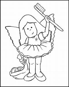 Tooth Fairy Coloring Page - Coloring Home