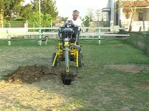 micro excavator auger  rb baliani rufino   youtube