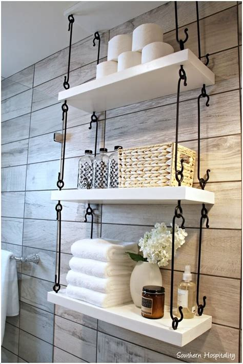 bathroom wall shelving ideas 10 cool ways to decorate with suspended shelving