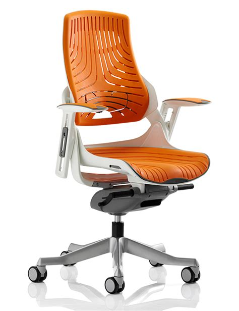 orange desk chair zephyr executive orange elastomer office chair