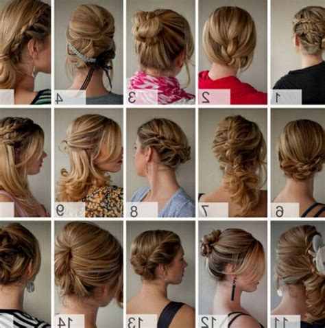 ideas  quick easy updos  long thick hair