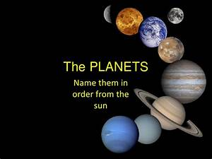 All the Planets in the Sun the Moon From including Order ...