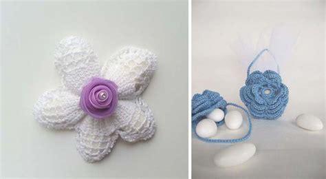 bomboniere a forma di fiore cerchi bomboniere all uncinetto originali e personalizzate