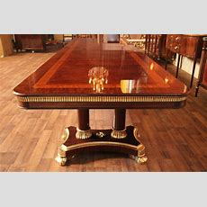 Large High End Mahogany Dining Table, Antique Reproduction