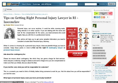 Tips On Getting Right Personal Injury Lawyer In Ri