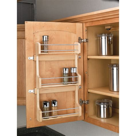 rev a shelf spice rack shop rev a shelf wood in cabinet spice rack at lowes