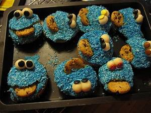 Cookie Monster Muffins A Character Cake Cake