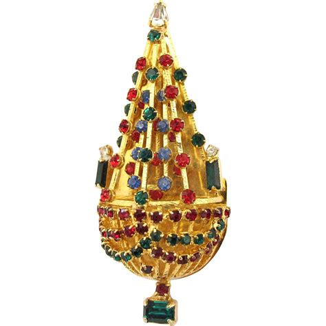 warner chandelier christmas tree pin book piece from