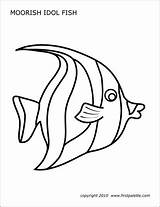 Fish Template Coral Reef Printable Moorish Idol Fishes Firstpalette Coloring Pages Templates Printables Drawing Ocean Stencils Sea Crafts Butterfly Reefs sketch template