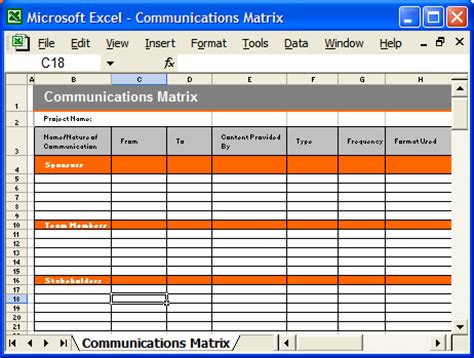 communication template communication plan templates ms word and excel spreadsheets