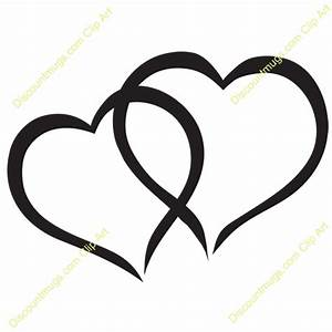 Free Interlocking Hearts Clipart - Custom Clip Art - 12057
