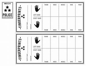 police officer39s finger print sheet free printable With fingerprint paper template