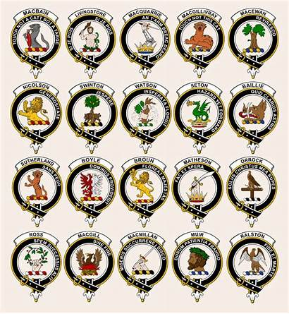 Clan Badges Scottish Crest Heraldry Ag Sept