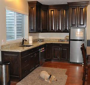 Stone ridge cabinets black walnut kitchen for Walnut kitchen cabinets