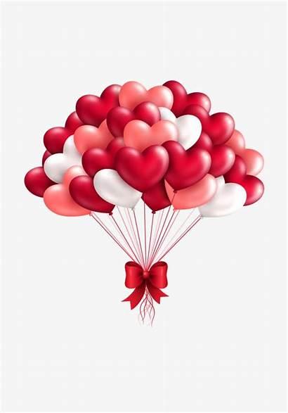 Happy Balloons Background Romantic Vector Card Valentine