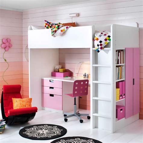 lit mezzanine bureau ikea chambre d 39 enfant avec combinaison lit mezzanine bureau