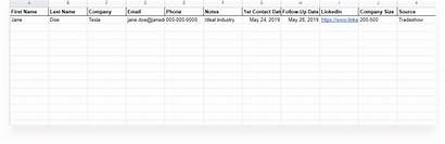 Prospect Template Spreadsheet Sales Tracking Xlsx