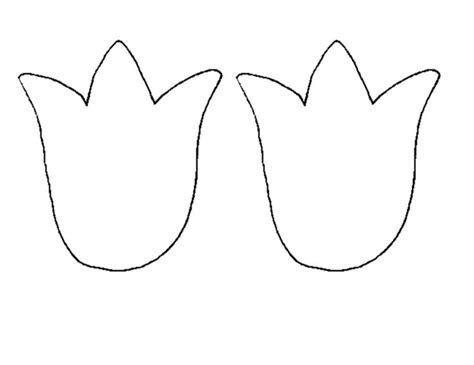 tulip template tulip template yahoo image search results preschool