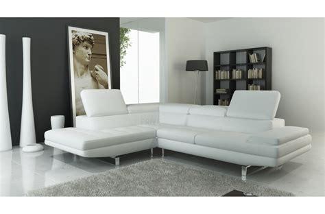 canape italien contemporain canapé d 39 angle en cuir italien 6 places birkin blanc