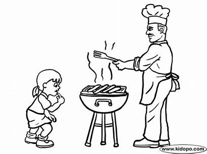 Cooking Coloring Pages Cook Chef Kidopo