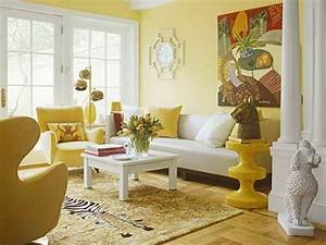 bright yellow wallpaper decoration for living room with With colour it yellow living room