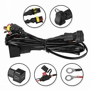 Led Fog Lights 40a Wiring Harness Switch On  Off For Bmw