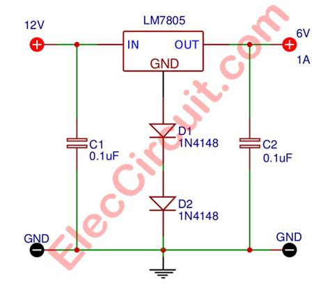 Circuit Diagram 12v To 6v by 8 How To Convert 12v To 6v Step Circuit Diagram