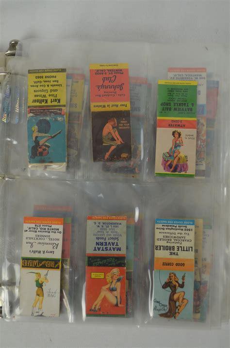 lot detail vintage matchbook collection