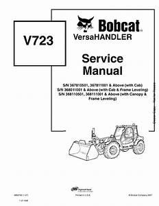 Bobcat V723 Versahandler Service Manual 1