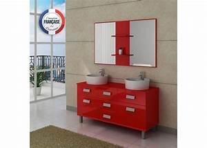 Prix Meuble Salle De Bain : meuble double vasque avec pied dis911co meuble de salle de bain 2 vasques 140 cm rouge ~ Teatrodelosmanantiales.com Idées de Décoration