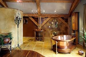 Home Interior Framed 20 Rustic Bathroom Designs With Copper Bathtub