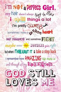 So i'm not a perfect girl | Christian art, No matter what ...