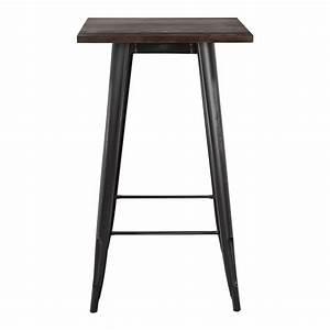 Table Haute Bois : table haute lix vintage en bois sklum france ~ Melissatoandfro.com Idées de Décoration