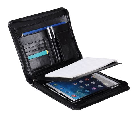 XIAOZHI - Deluxe Leather Organizer Padfolio for iPad and ...